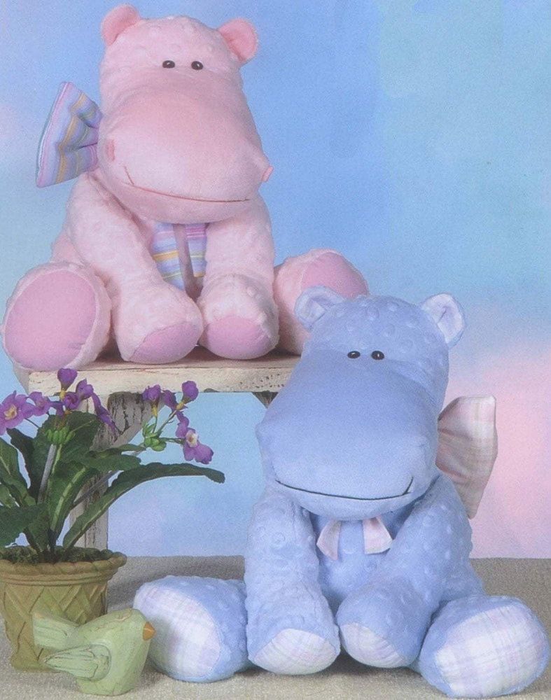 Little Hippo - Plush or stuffed animal PATTERN- Hippo - by Cotton Ginnys - These would make adorable gifts! Uses Cuddle or Minkie fabric! - RebsFabStash