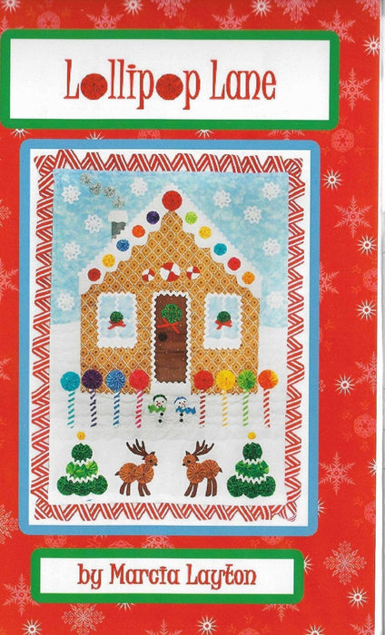 "Lollipop Lane - by Marcia Layton - Quilt pattern, applique, embroidery - finished size 21"" x 29"" - RebsFabStash"