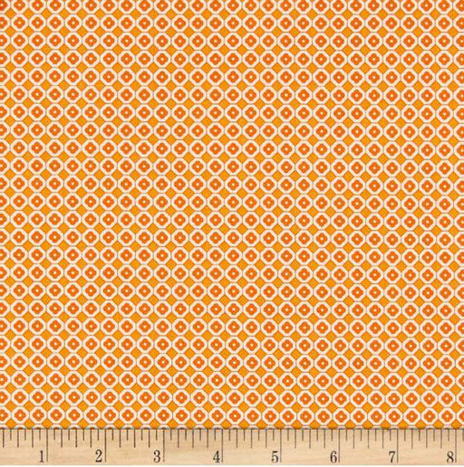Lori Holt Farm Girl Vintage Fabrics - per yard - Riley Blake - Farm Sweet Farm - Flat Orange C7885 - Orange - RebsFabStash