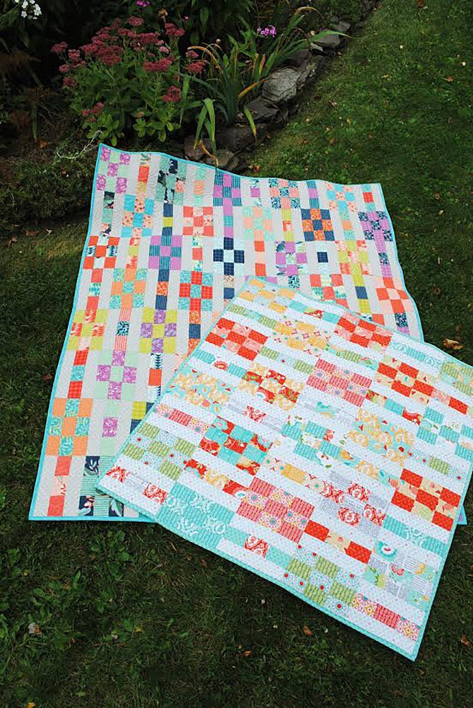 Lucky Nines - Quilt Pattern - Sweet Janes Designs - precut friendly! Baby, lap quilt instructions included! - RebsFabStash