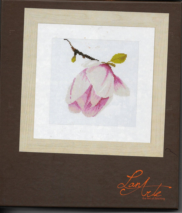 Magnolia Bud - Richard Griffin - Lanarte Home & Garden Collection - DMC Fabric 14ct or 27ct Complete Counted Cross Stitch Kit - RebsFabStash