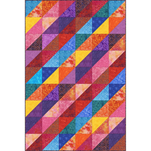 Mango Tango Batiks - Quilt Kit designed by Rachel Shelburne - Maywood Studio - Orange, purple, magenta, blue, FIRE! - RebsFabStash