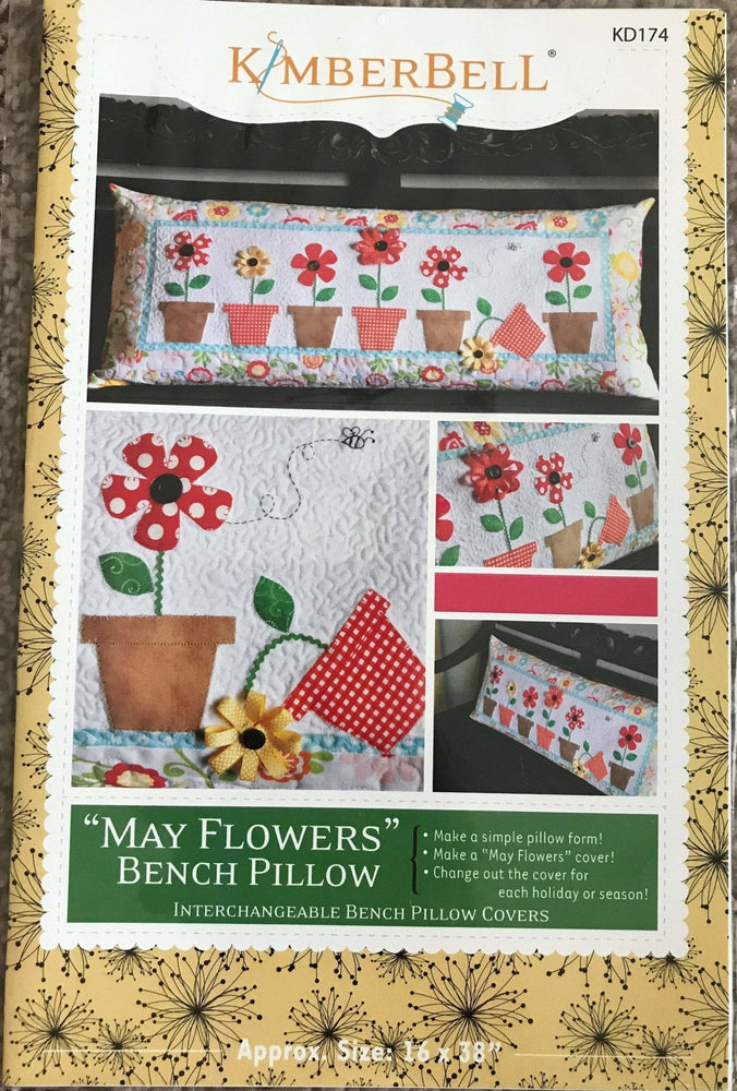 May Flowers Bench Pillow Pattern - Kimberbell - Fat Eighth Friendly (2C) - RebsFabStash
