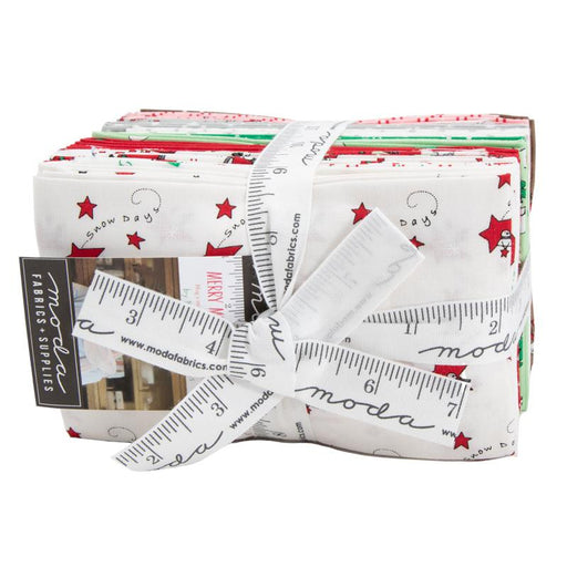"Merry Merry Snow Days - F8/fat eighths (32) 9"" x 22"" pieces - MODA - Bunny Hill Designs - Christmas - Quilt fabric - RebsFabStash"