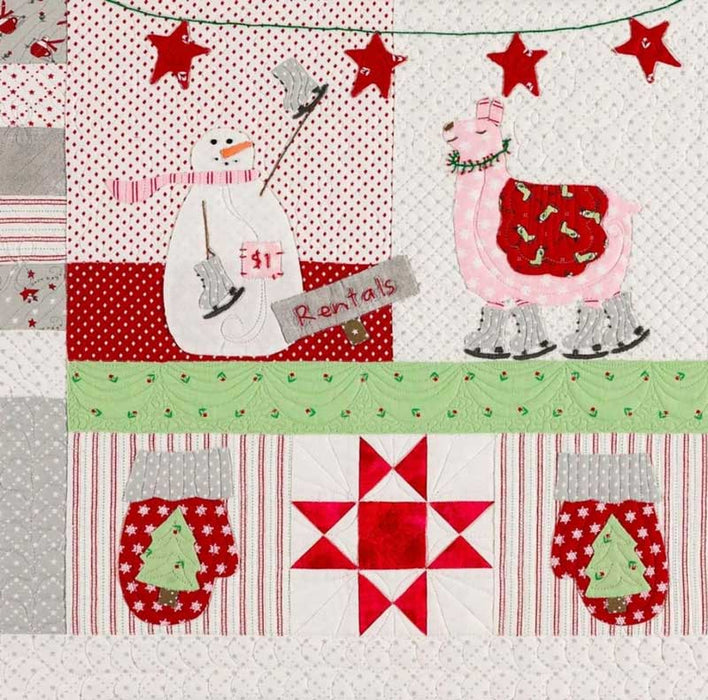 "Merry Merry Snow Days - QUILT KIT - MODA - Bunny Hill Designs - Christmas - Snowmen, Llamas, Ski Slopes - finished size 65"" x 68"" - RebsFabStash"