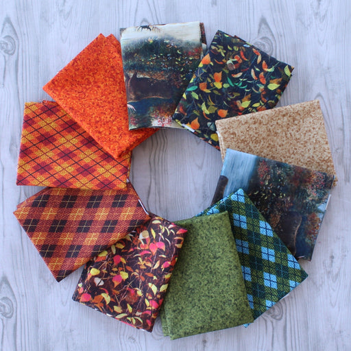Moose Country - PROMO Fat Quarter Bundle (10 + Panel) - by Jim Hansel - JQ Licensing - Quilting Treasures - RebsFabStash