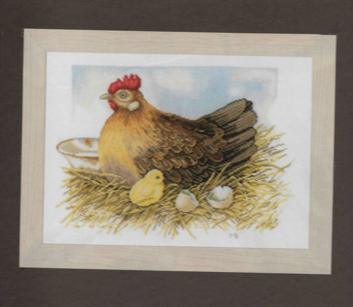 Mother Hen - Marjolein Bastin - Lanarte Home & Garden Collection - DMC Aida Fabric (18 ct) Complete Counted Cross Stitch Kit - RebsFabStash