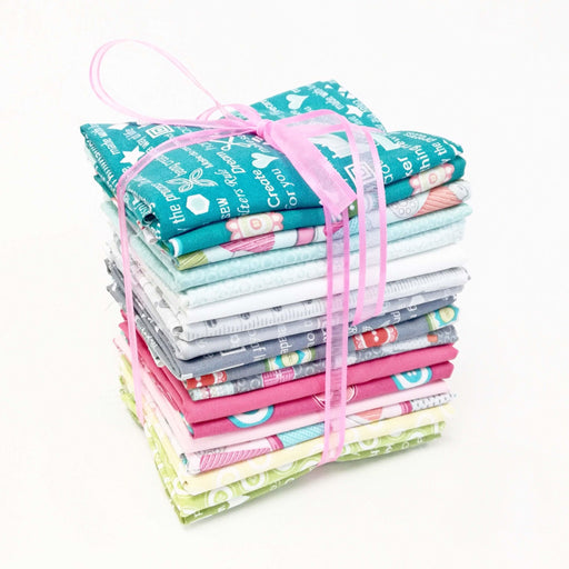 "My Happy Place - PROMO Fat Quarter Bundle - 18"" x 22"" pieces- Contempo by Benartex - by Cherry Guidry - RebsFabStash"