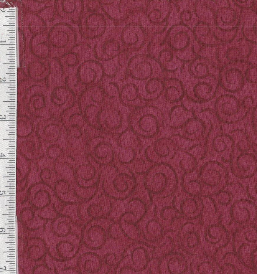 My Precious Quilt- per yard- Henry Glass by Leanne Anderson - Red Swirls - RebsFabStash