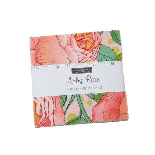 "NEW! Abby Rose - Charm Pack - Stacker - (42) 5"" x 5"" Squares - by Robin Pickens - Moda - Spring colors, shades, floral - 48670PP - RebsFabStash"