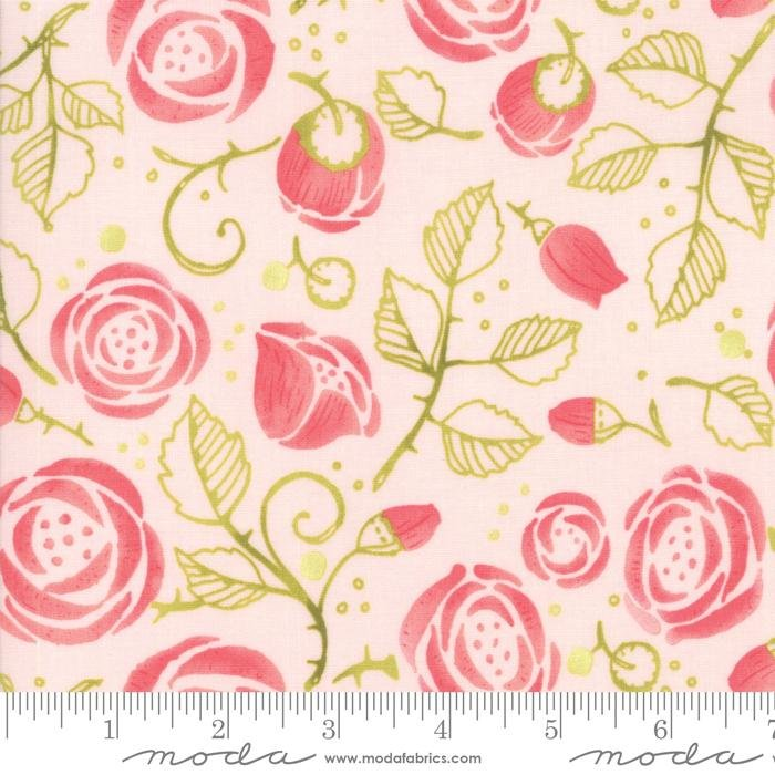 NEW! Abby Rose - Citrus Rose Buds - by the yard - by Robin Pickens - Moda - Spring colors, shades, floral - RebsFabStash