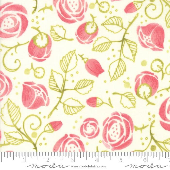 NEW! Abby Rose - Greenery Rose Buds - by the yard - by Robin Pickens - Moda - Spring colors, shades, floral - RebsFabStash