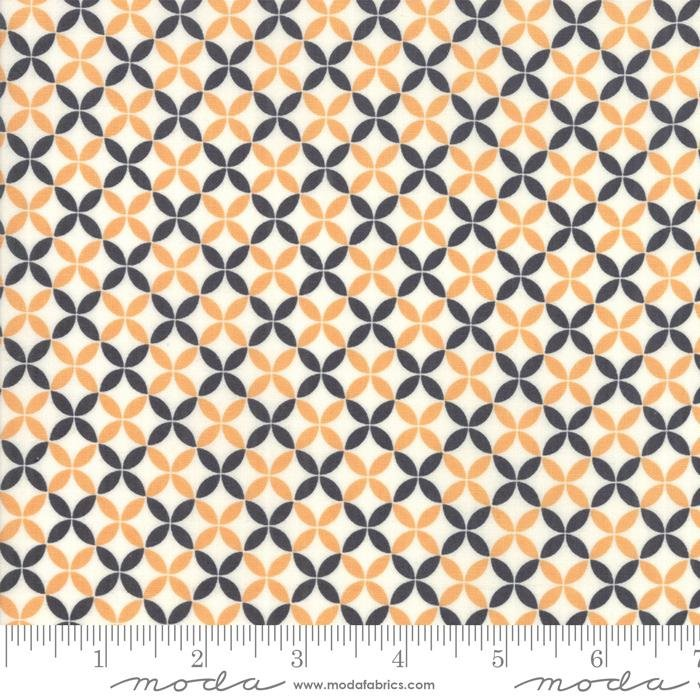 "New! All Hallows Eve - Charm Pack - Stacker - (42) 5""x 5"" squares - Fig Tree & Company - Joanna Figueroa - Moda - orange, grey, cream, black - RebsFabStash"