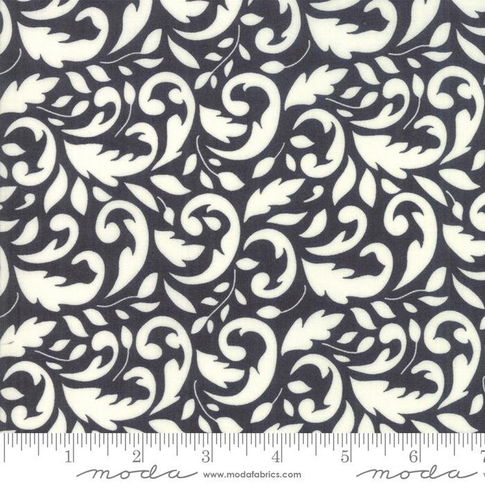 New! All Hallows Eve - Midnight - by the yard - by Joanna Figueroa for Moda - Fig Tree & Company - Black Houndstooth - 20355-13 - RebsFabStash
