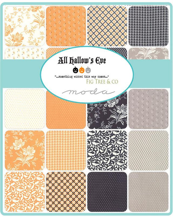 "New! All Hallows Eve - Midnight Crossing - QUILT KIT - Designed by Fig Tree & Co by Joanna Figueroa for Moda - finished size app. 69""x 69"" - RebsFabStash"