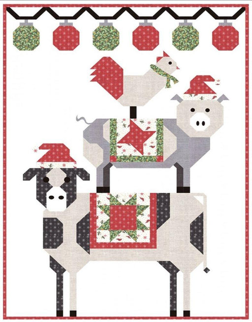 "NEW! All Stacked Up KIT - Wall Quilt Kit - uses Homegrown Holidays by Deb Strain - Pattern by Coach House Designs - Barbara Cherniwchan - 36"" x 50"" - RebsFabStash"