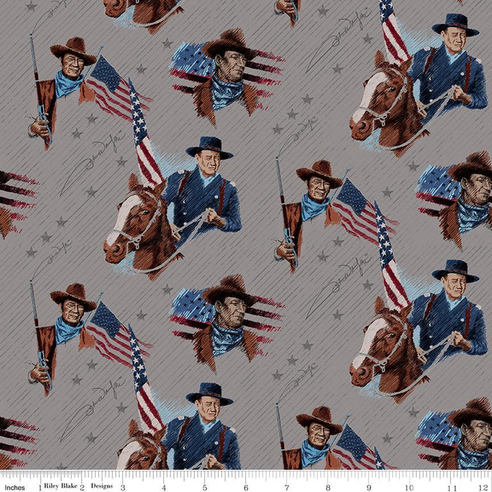 NEW! Americana John Wayne fabrics - per yard - Riley Blake Designs - by Riley Blake Designers - Stars Red - C9472-RED - RebsFabStash