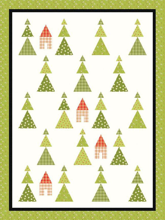 New! Among the Pines - #728 - Quilt Pattern - Sandy Gervais - Riley Blake Designs - Pieces From My Heart - Trees, Winter - RebsFabStash