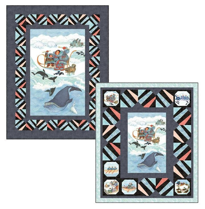"New! Arctic Wonders - PROMO Fat Quarter Bundle + 2 PANELS! - (11) 18"" x 21"" pieces PLUS (1) 23"" x 43"" panel & (1) 28"" x 43"" panel - by Barbara Lavallee for Northcott - RebsFabStash"