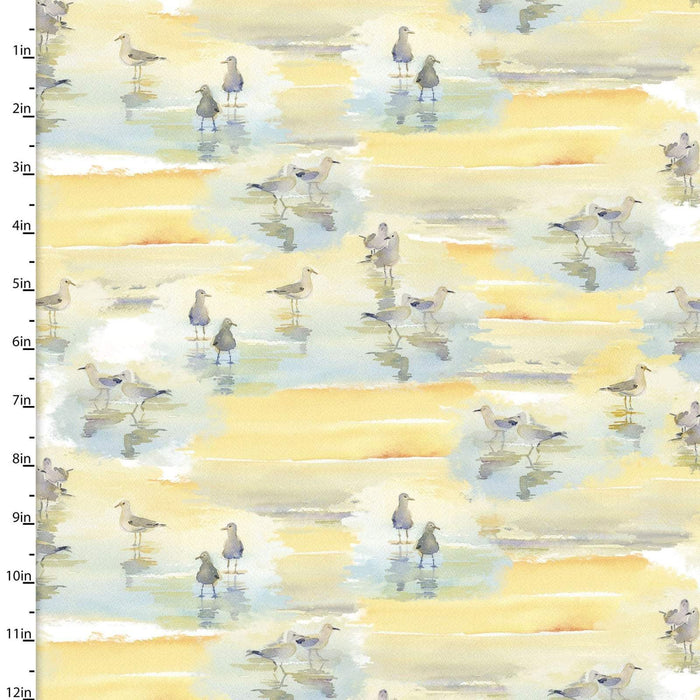 "New! At the Shore - Large PANEL (42""x 36"") - by John Keeling - 3 Wishes - Digitally Printed fabrics! - Multi - 16056-MUL - RebsFabStash"