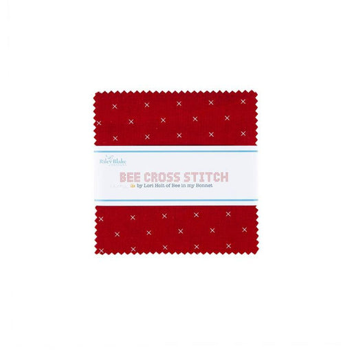 "NEW! Bee Cross Stitch - Charm Pack - Stacker - (42) 5"" x 5"" squares - by Lori Holt for Riley Blake Designs - Basics - 5-745-42 - RebsFabStash"