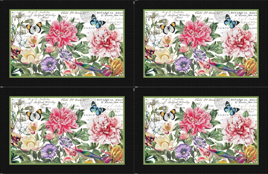 "New! Botanica - PROMO Fat Quarter Bundle plus PANEL! - (20) 18"" x 21"" pieces + (1) 28"" x 43"" Panel - by Michel Design Works for Northcott - Floral, Butterflies, Garden - RebsFabStash"