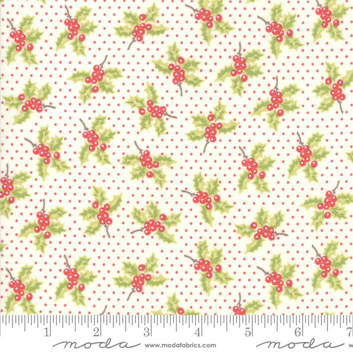 New! Christmas Figs II - Snowflake Pomegranate Twinkle Stars - by the yard - Joanna Figueroa - Fig Tree & Co - MODA - Fun, retro holiday prints - ivory - RebsFabStash