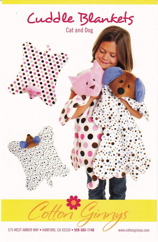 New! Cuddle Blankets - Cat and Dog - by Cotton Ginnys - RebsFabStash