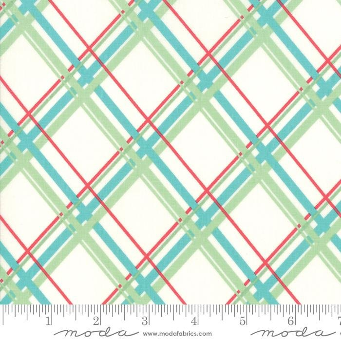 NEW! Deer Christmas - per yard - by Urban Chiks for Moda - Lights Peppermint - 31165 12 - RebsFabStash