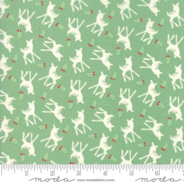 NEW! Deer Christmas - per yard - by Urban Chiks for Moda - Polka Dot Deer Peppermint - 31161 11 - RebsFabStash