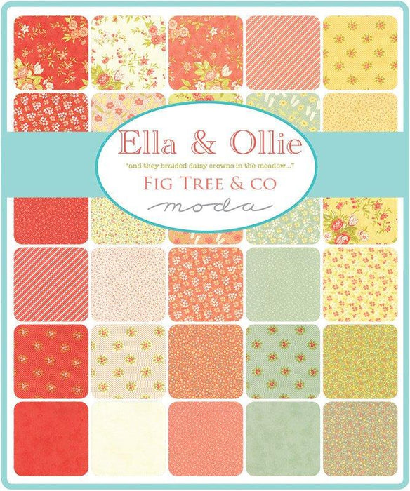 "New! Ella & Ollie - Layer Cake - (42) 10"" Squares - Fig Tree - MODA - Quilting/Sewing Fabric - RebsFabStash"