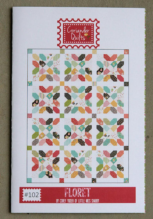 New! Floret - Quilt Pattern - Coriander Quilts by Corey Yoder #102 - RebsFabStash