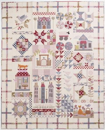 New! Foxley Village Block-of-the-Month Quilt - Pattern - by Birdhouse Patchwork Designs - RebsFabStash