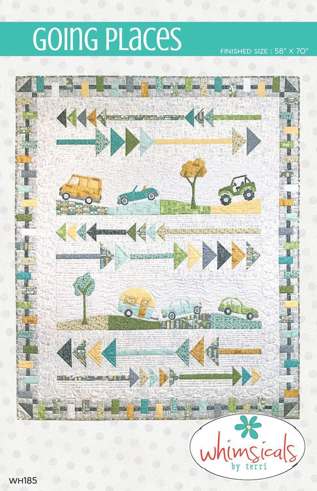 New! Going Places - Quilt Pattern - designed by Terri Degenkolb - Whimsical Quilts - RebsFabStash