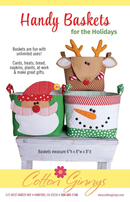 New! Handy Baskets for the Holidays - Pattern - Cotton Ginny's - RebsFabStash