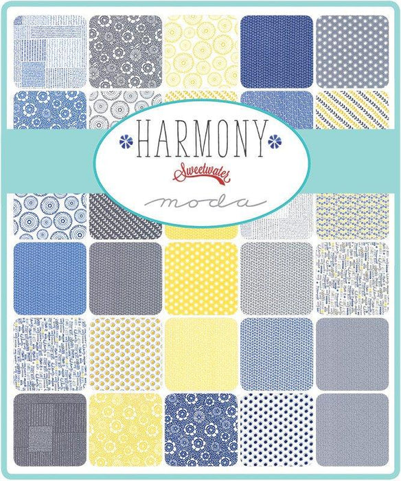 "New! Harmony - Charm Pack - (42) 5"" Squares - by Sweetwater - MODA - Quilting/Sewing Fabric - RebsFabStash"