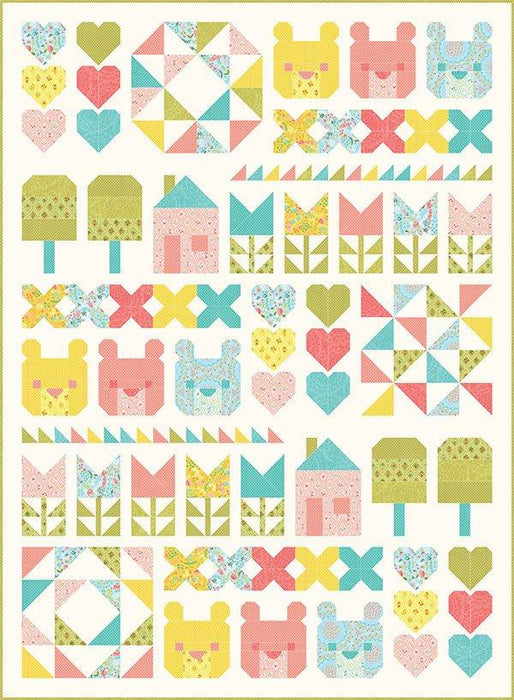 New! Home Sweet Home -The Three Bears Quilt Kit And Pattern - by Stacy Iest-Hsu - MODA - Quilting/Sewing Fabric - Goldilocks & Three bears - RebsFabStash