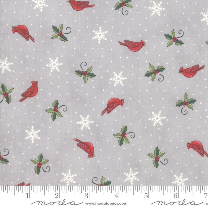 NEW! Homegrown Holidays Fabric - per yard - by Deb Strain for MODA - Silo Grey Holiday Handwriting - 19943 12 - RebsFabStash