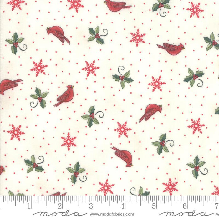 NEW! Homegrown Holidays Fabric - per yard - by Deb Strain for MODA - Winter White Holiday Greenery - 19944 11 - RebsFabStash