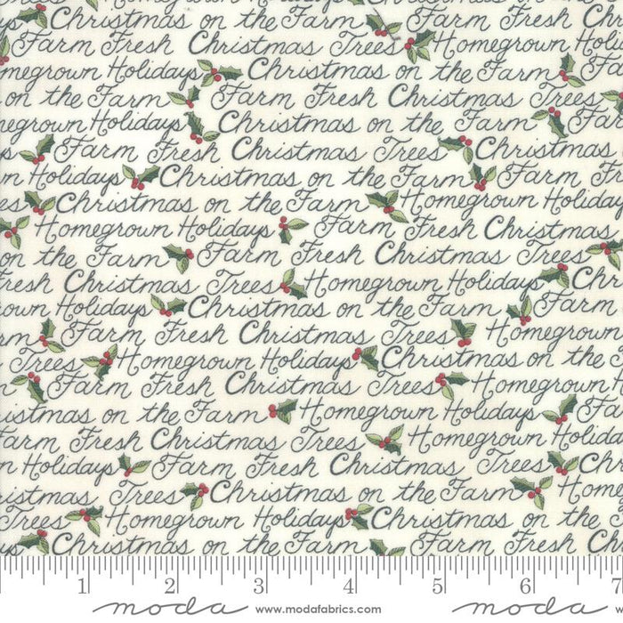 NEW! Homegrown Holidays Fabric - per yard - by Deb Strain for MODA - Winter White Truck and Trees - 19942 11 - RebsFabStash
