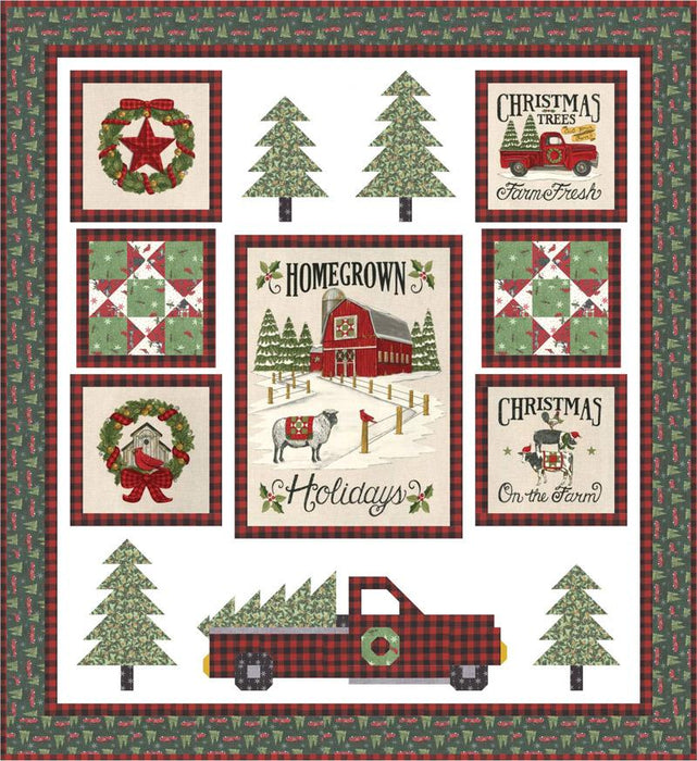 NEW! Homegrown Holidays Kit - The Perfect Tree - by Deb Strain for MODA - Pattern by Coach House Designs - KIT19940 Moda Precuts Box Kit - RebsFabStash
