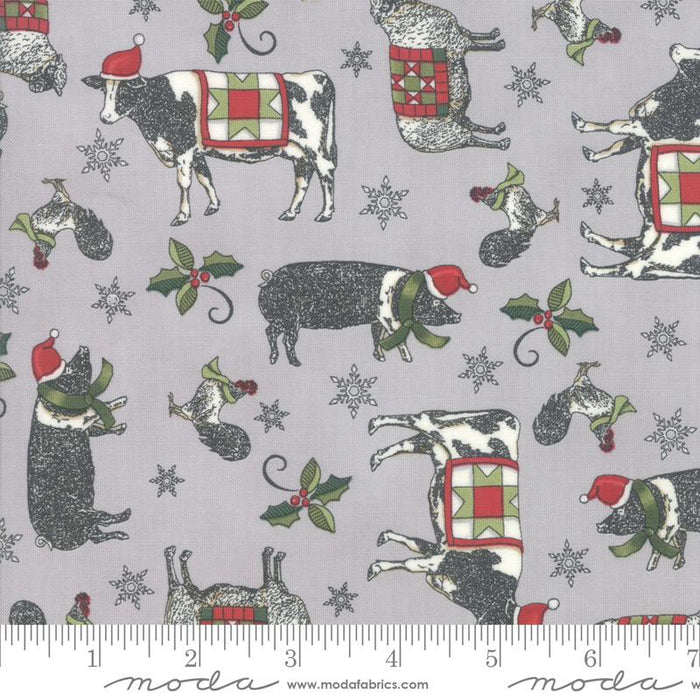 "NEW! Homegrown Holidays Panel - per PANEL - by Deb Strain for MODA - 24"" Farm Panel Barn Red - 19940 13 - RebsFabStash"