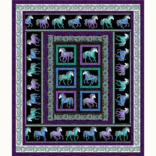 NEW! Hot to Trot Quilt Kit - uses Horsen Around by Ann Lauer - Grizzly Gulch - Benartex - RebsFabStash