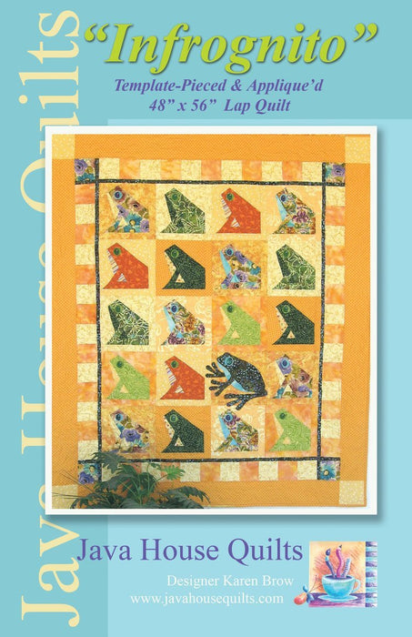 "New! ""Infrognito"" - Pattern - designed by Karen Brow for Java House Quilts - RebsFabStash"