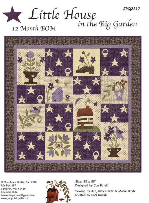 New! Little House in the Big Garden - 12 Month BOM Pattern - designed by Jan Patek Quilts, Inc. JPQ 2217 - RebsFabStash