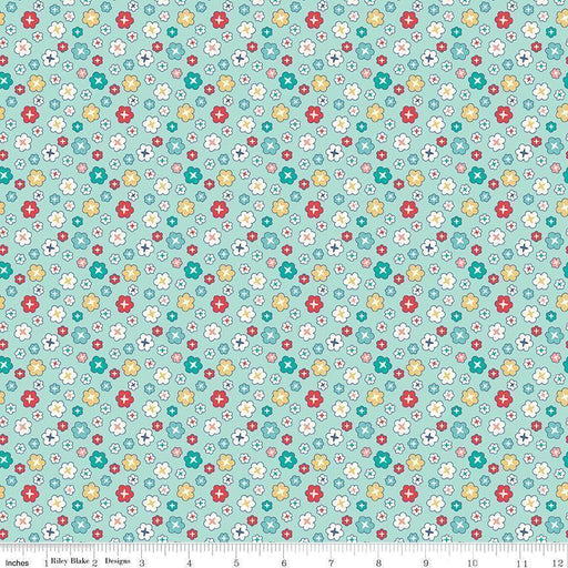 "NEW! Lori Holt Vintage Happy 2 Fabric - REMNANTS -Riley Blake - WIDE BACK 108"" wide Blossom on SONGBIRD WB9136 - RebsFabStash"