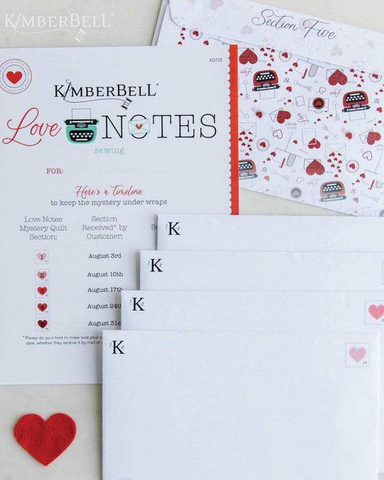 NEW! Love Notes Mystery Kit - EMBELLISHMENT Kit Only! - Kimberbell Designs - Maywood - Starts August 3rd! - RebsFabStash