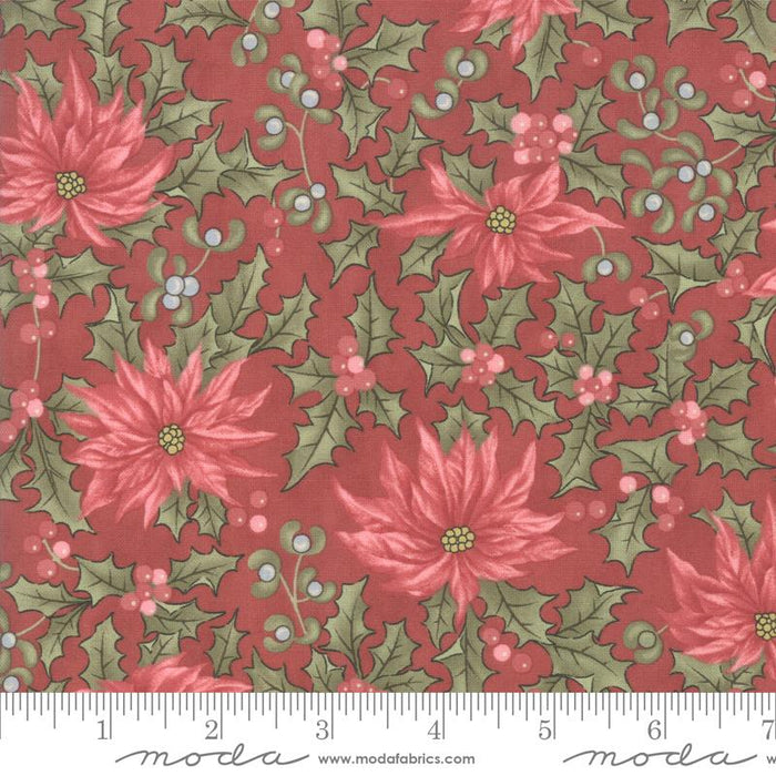 "NEW! Marches de Noel - Layer Cake - Stacker - (42) 10"" x 10"" squares - MODA - by 3 Sisters - paisleys, poinsettias, holly and tiny flowers - RebsFabStash"
