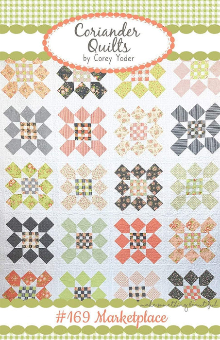 New! Marketplace #169- Coriander Quilts by Corey Yoder - Fat Quarter Friendly Quilt - RebsFabStash