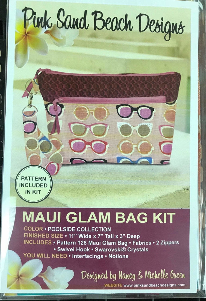 New! Maui Glam Bag #126 by Pink Sand Designs - Complete KITS!! Pattern, fabric and notions INCLUDED! Must See! Poolside fabrics - RebsFabStash